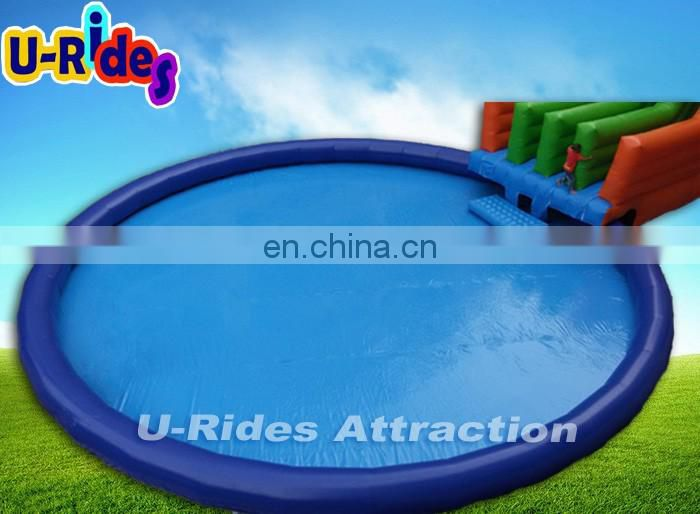 Distribution price inflatable slide and round swimming water pool For Amusement park