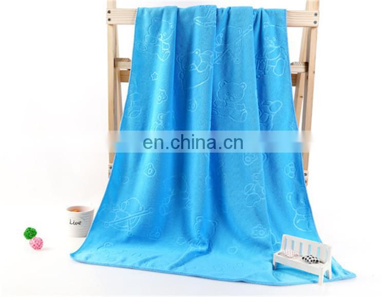 Directly China Supplier Cute Embossed design Microfiber bath Towel