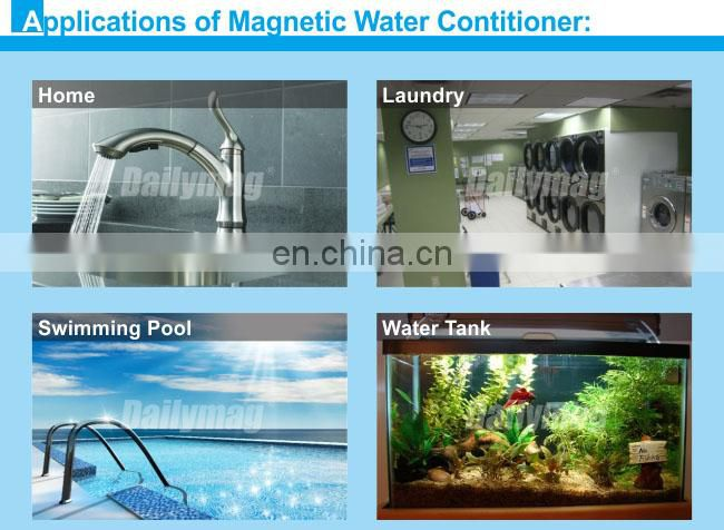 Stainless steel housing Magnetic Water Descaler For cooling tower Water treatment
