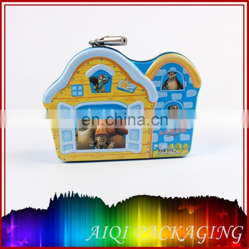 mini small semi circle candy mint cute hinged decorative custom gift printed keychain metal tin box