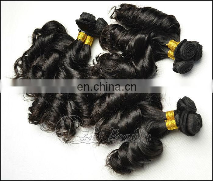 Selling well all over the world non remy double drawn human hair