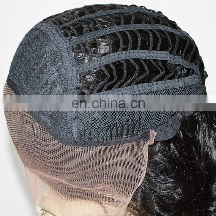 8A Human hair lace front wigs with bangs for black women,100%human hair wigs,