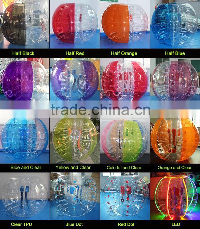 High quality Dia 1.2m small inflatable clear plastic ball,buddy bumper ball for kids