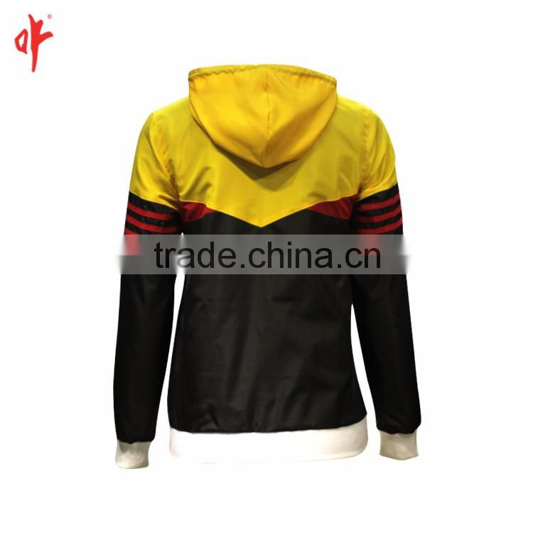 ladies fit tracksuit top with hoody,custom casual coats hoodie,traditional track top,custom casual coat in spring or autumn ./