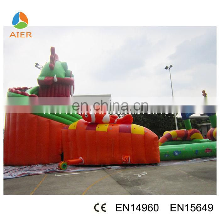 Giant inflatable water part , children water part games for sale