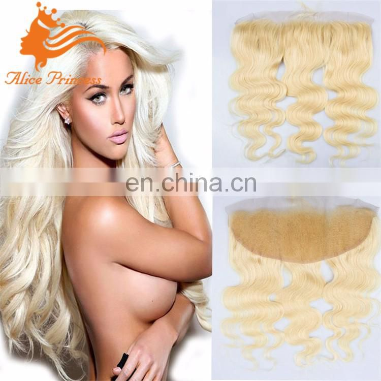 613 blonde Lace Frontal 13*4 lace Closure body wave European virgin hair 613# human hair lace frontal piece