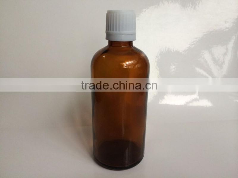 100ml essential oil bottles with tamper evident cap, essential oil bottle with tamper evident plastic cap