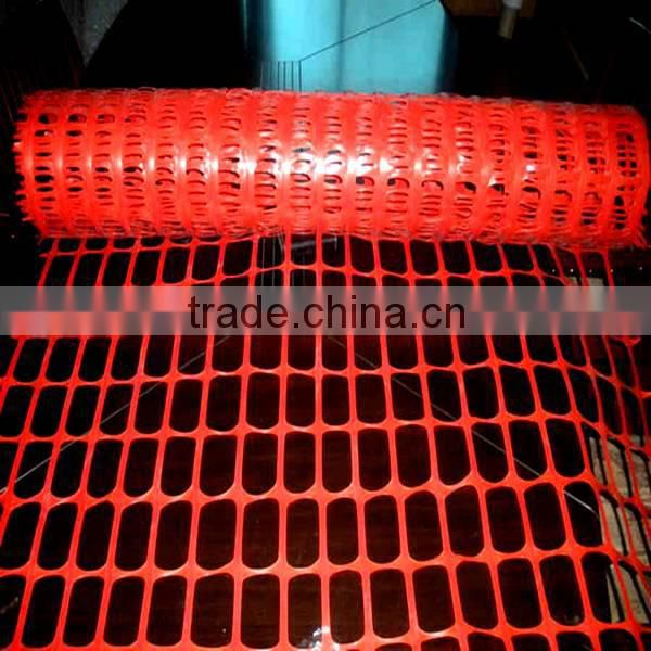 Orange safety snow fencing