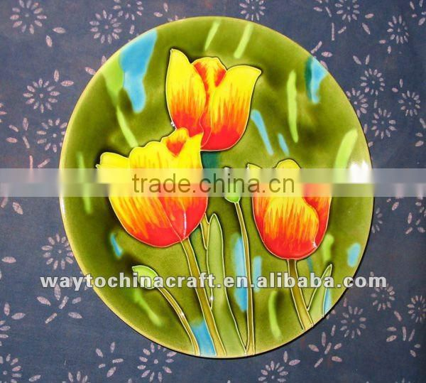Bright and Vibrant colored Decorative Ceramic Plate