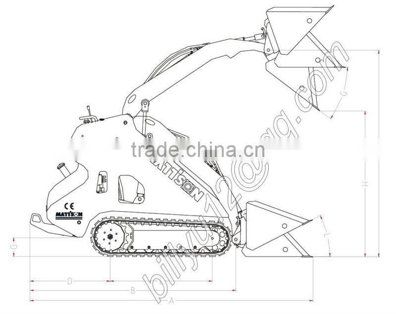 Chinese Mattson Ml525 Skid Steer For Post Hole Borer Mini Loader