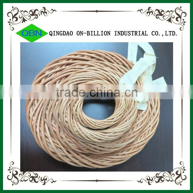 Wholesale manufacturer customized willow wicker wreath artificial flower decoration Christmas wreath