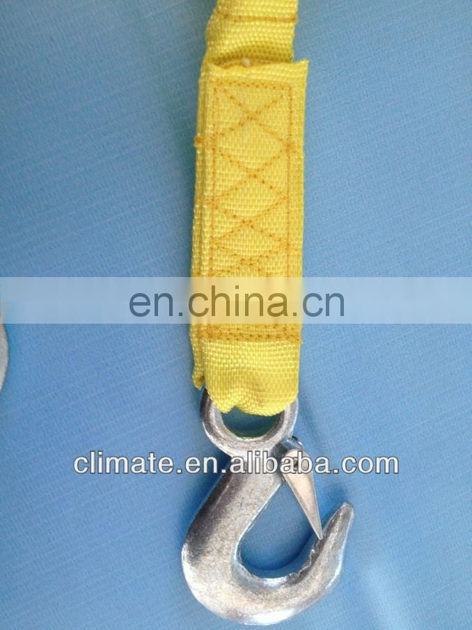 PP Material tow strap/tow rope with strong hooks