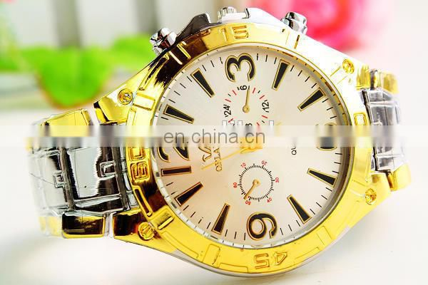 OEM Cheap Fashion quartz men's watch brand stainless steel watch black High quality