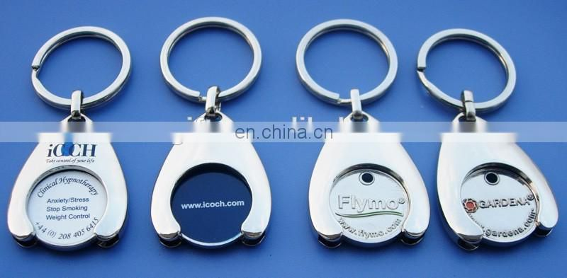 German Printing Logo Supermarket Trolley Token Coin Key Chain