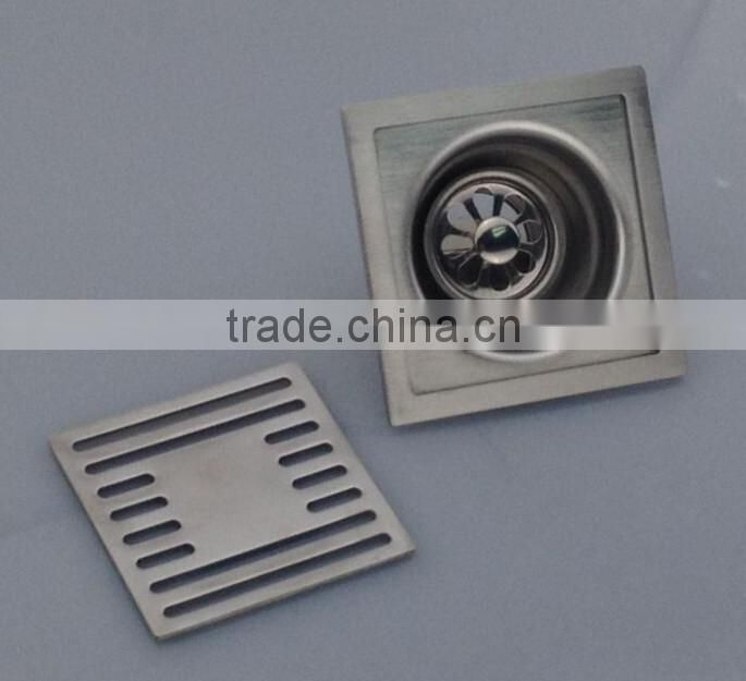 NEW TYPE Stainless Steel Floor Drain.single use , satin finished, brushed