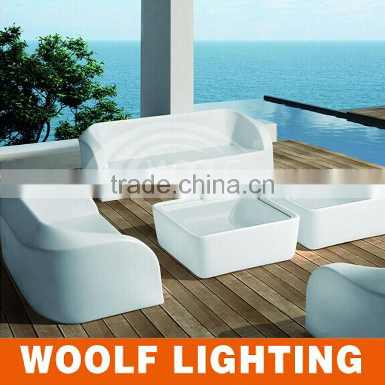 led white plastic single seat cheap chesterfield sofa of LED Sofa ...