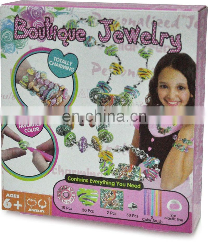 DIY personalized jewelry beads set for kids braclets and necklace