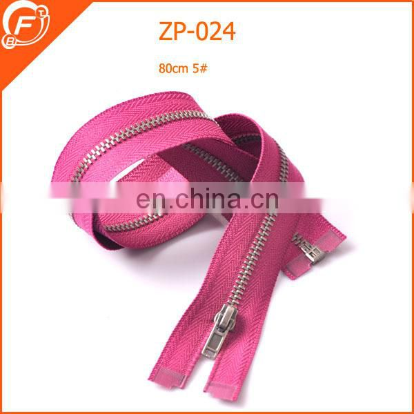 fashion pink zipper for garments clothing
