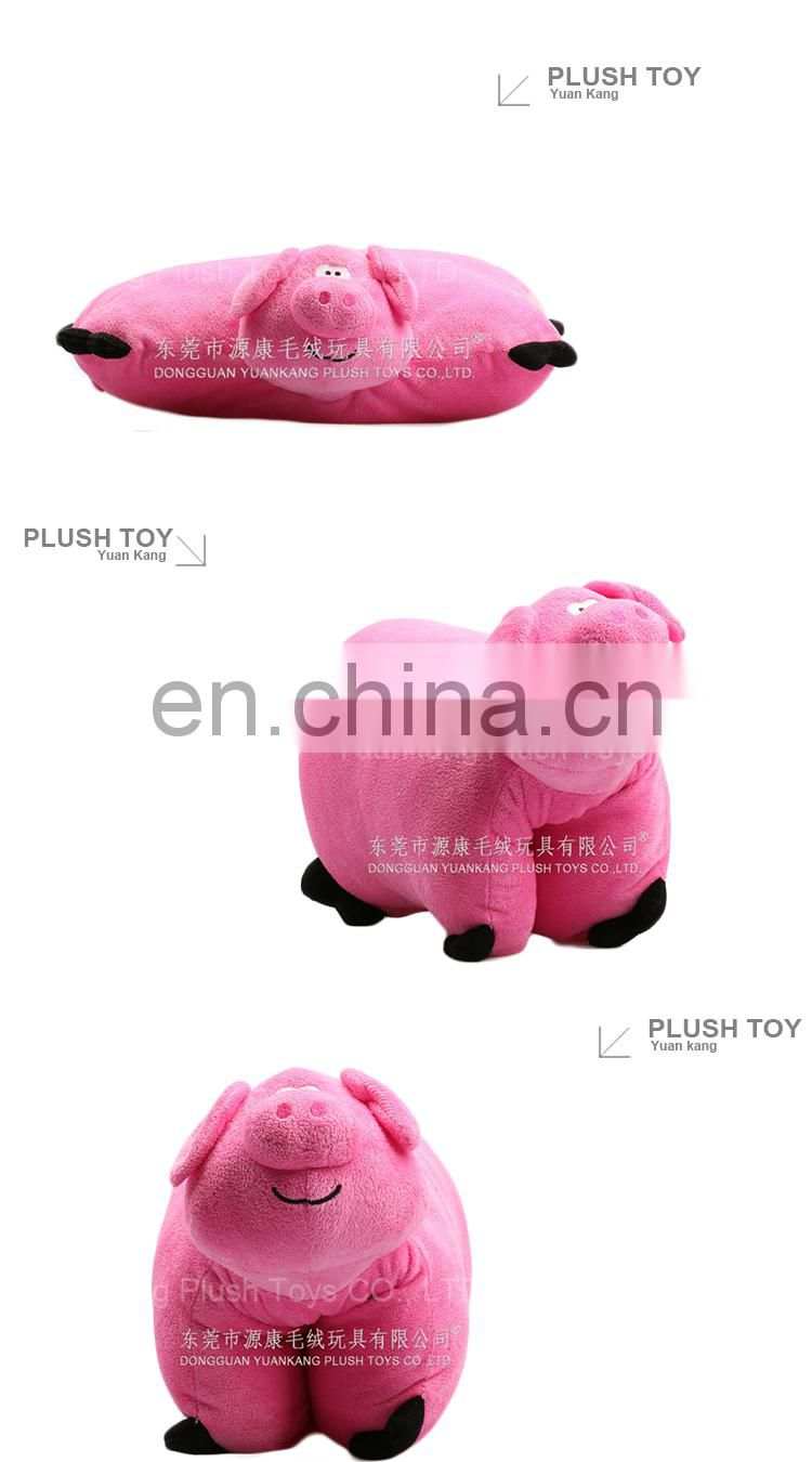 2 in 1 plush pink pig pillow hand warmer