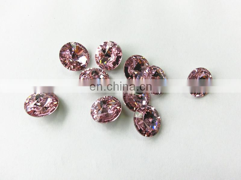 Round Point crystal fancy Rose stone beads variety of colors
