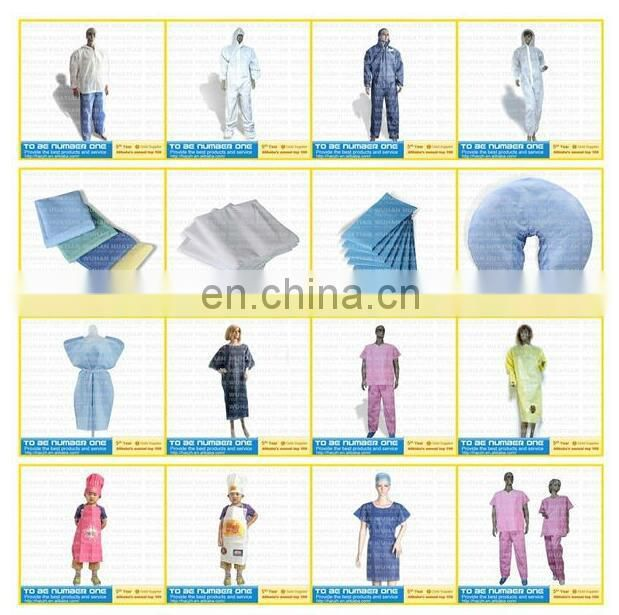 HQ standard 45GSM Blue SMS disposable medical surgical gown sterile