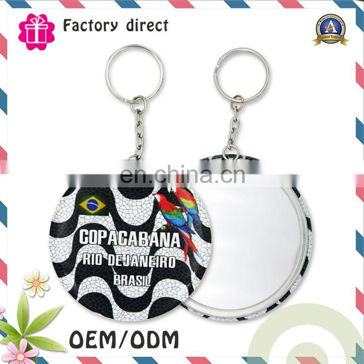 Factory Sale Cheap Price Fashion Design Custom Keychain with makeup mirror