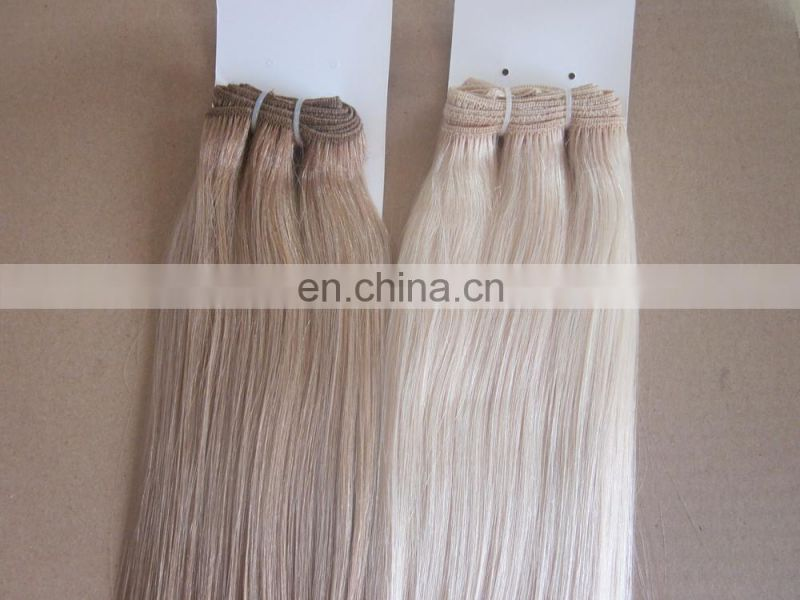 Women silky blonde 100% Human Hair Straight Weave weft