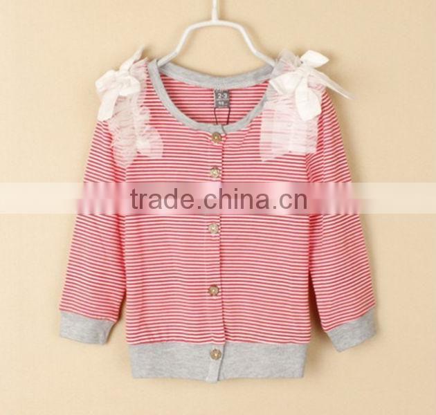 Latest Flower Pattern Children Girls Autumn Sweater