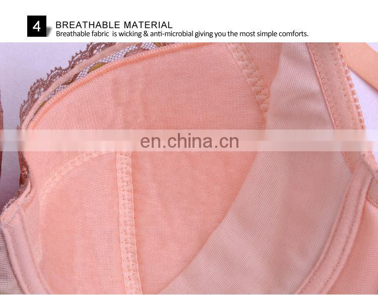 Hot Selling Pretty Pattern Female Spandex Hot Sell Sexy Madam Bra Underwear