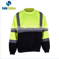 Customized cotton cheap fashion reflective safety fleece