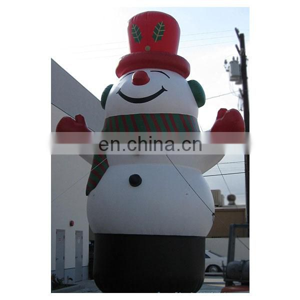 outdoor big inflatable snowman for christmas