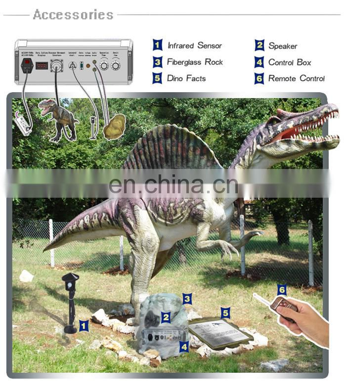 Amusement park realistic mechanical dinosaur replica