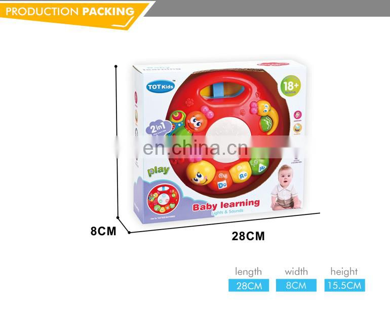 Funny plastic baby electronic toy hand drum with light and music