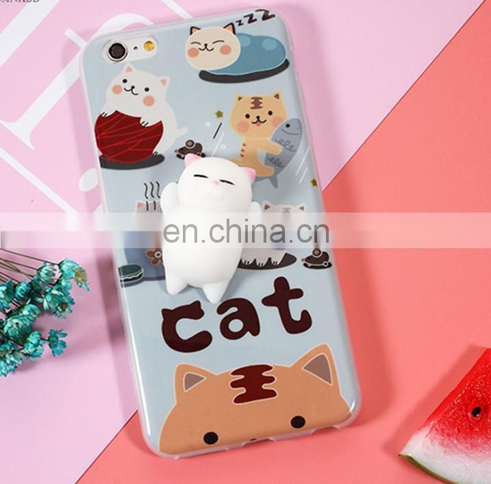 china suppliers pure color cute bear squishy phone case/case phone cover
