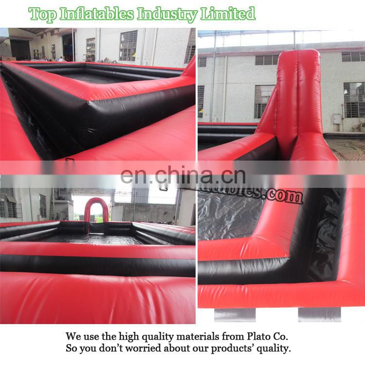 2017 new inflatable soccer field for sale, inflatable soap football field, inflatable volleyball field