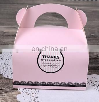 2015 custom folding 300gsm paperboard & paper cake box for wedding