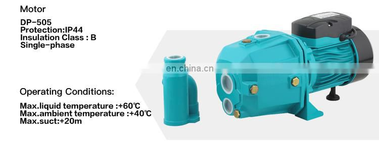 single phase high power 1hp self priming JET water pump