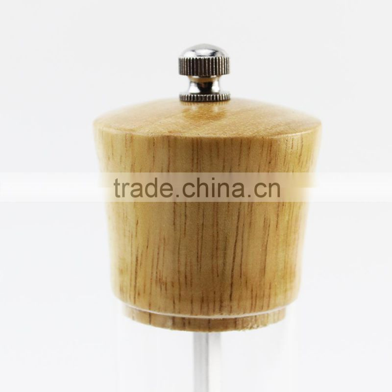 High-grade acrylic black pepper mill