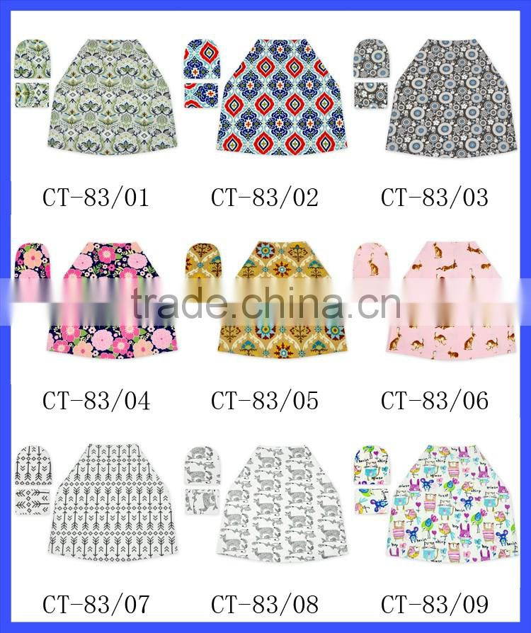 wholesale stretchy baby car seat cover multi-use nursing cover shipping cart cover