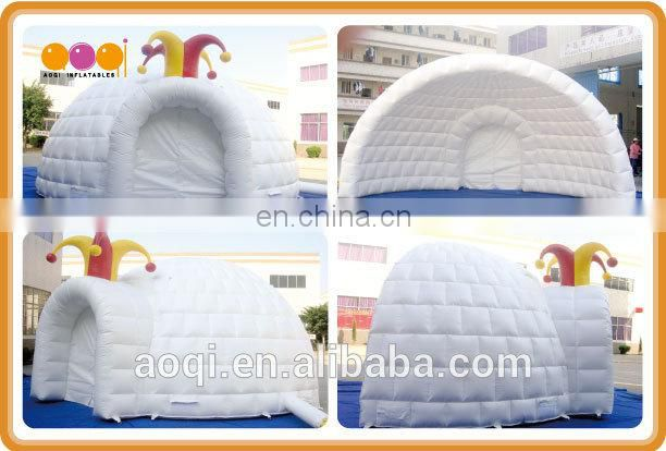 AOQI different design clown hat inflatable dome tent for party from china