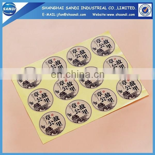 customized full color printed adhesive paper price label
