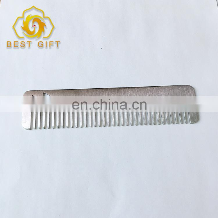 Wholesale Long Design Super Thin Stainless Steel Hair Comb