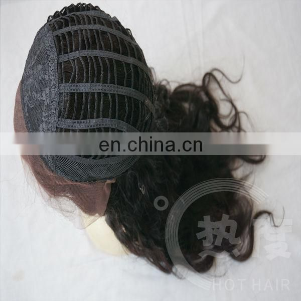 Grade 7A Factory Supply cheap brazilian virgin high quality human hair lace front wig
