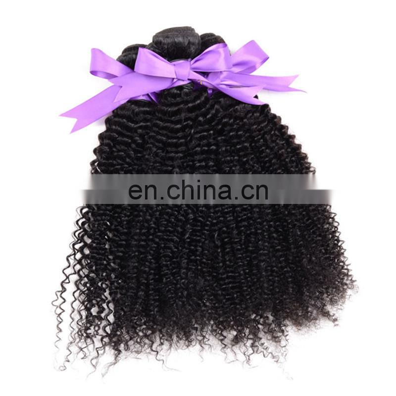 Factory wholesale 100% virgin human hair for black women kinky curly hair bundles