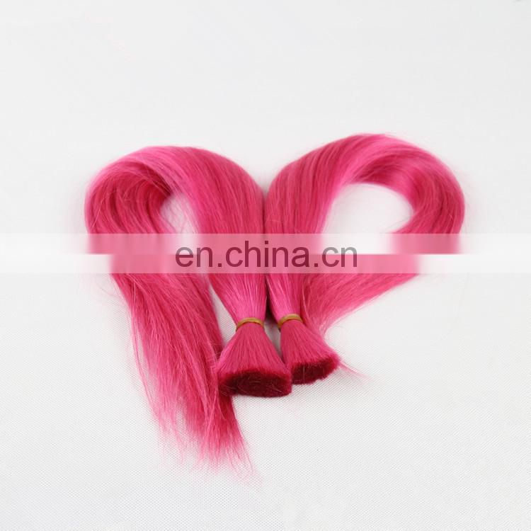 High Quality Pink Human Hair Extension Cheap 100%Human Hair Bulk