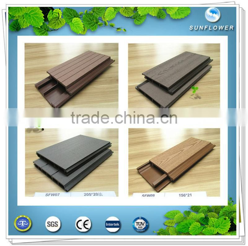 2015 Hot sale wood plastic composite wpc wall panel /outdoor wall panel /decorate wall board