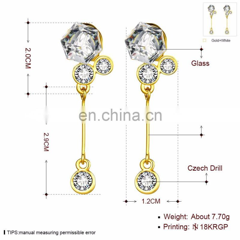 Diamond Pendant Earrings Latest Designs with Cheap Price