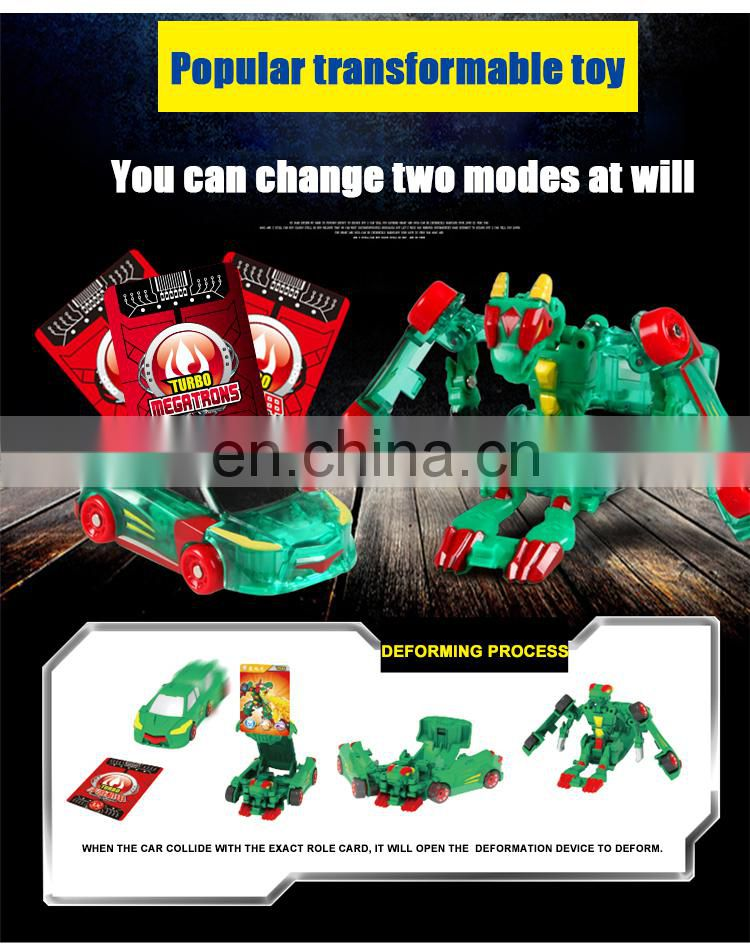 HOT Funny Children Cheap Transforming Car WIth Role Card