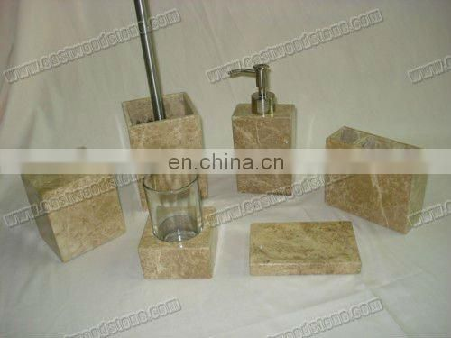 mosaic natural stone soap dispenser made