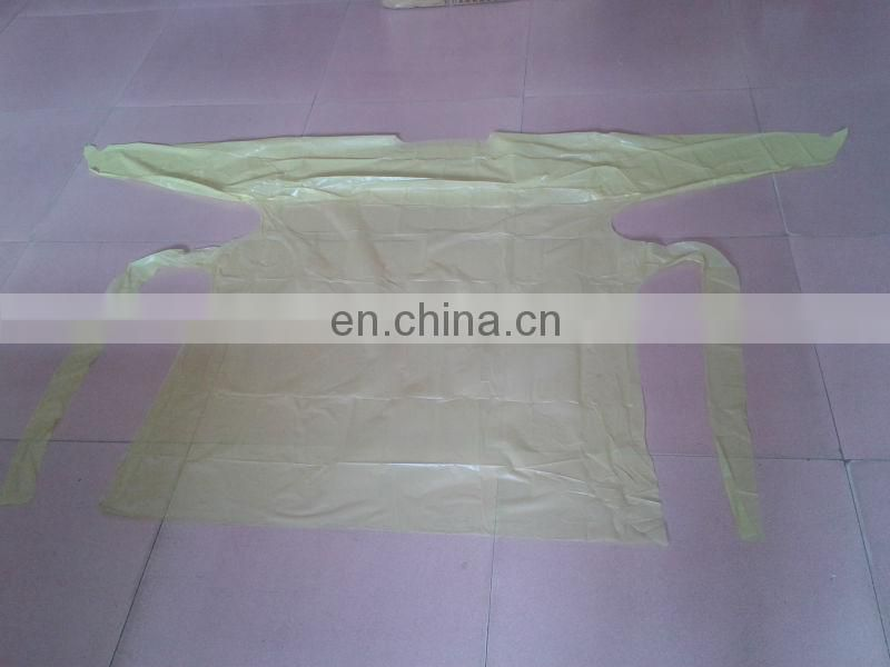 CPE Gown/Cpe Operation Gown Disposable CPE PE Visiting Gown /Plastic Apron Gown